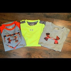 3 Under Armour Youth XL T-Shirts One is baseball